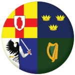 Ireland 4 Provinces Flag 25mm Pin Button Badge